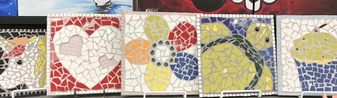 MOSAIC ART • The Painter\'s Loft Art Studio • All Fired Up Ceramics
