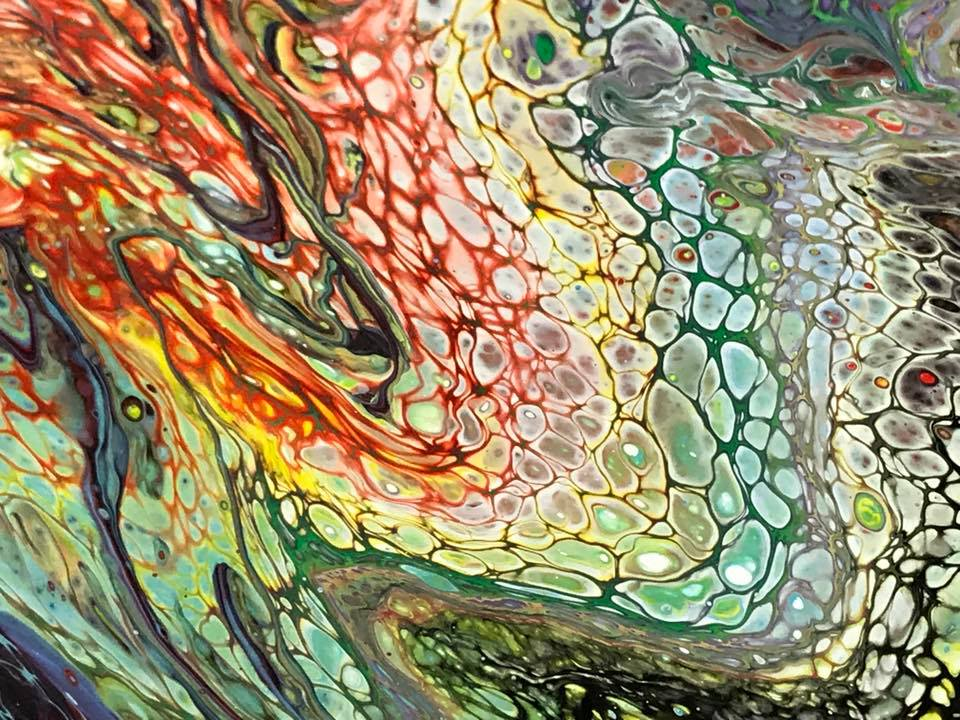 Fluid Art Dirty Pour Class w/Option to upgrade size  12x16 canvas  BYOB •  The Painter's Loft Art Studio • All Fired Up Ceramics