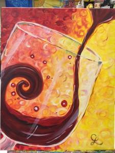 Swirly wine glass