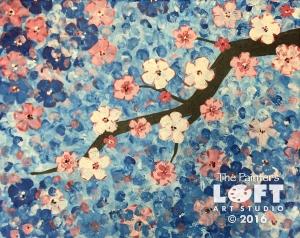 blue blossom branch