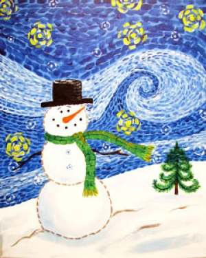 starry snowman